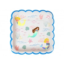 Meri Meri Party Plates large Mermaids