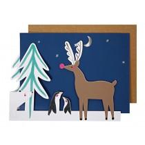 Meri Meri Christmas Card POLAR ANIMALS