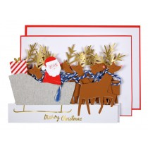 Meri Meri Christmas Card SANTA'S SLEIGH