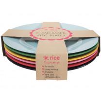 RICE 6 Melamine Side Plates FAVOURITES