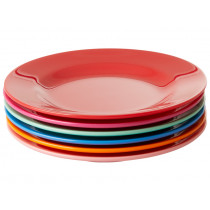 RICE 6 Melamine Side Plates CHOOSE HAPPY Colors