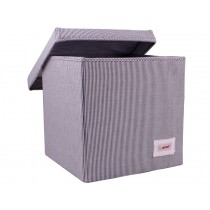 Minene storage box cube blue stripes