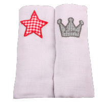 Minene cute muslin squares star crown