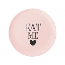 Miss Étoile bamboo melamine side plate Eat me rose