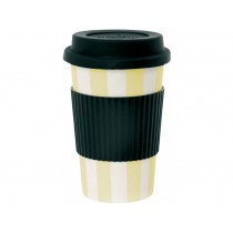 Miss Étoile travel mug yellow stripes
