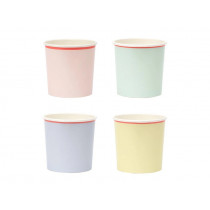 Meri Meri 12 Tumbler Party Cups pastel