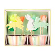Meri Meri Cupcake Kit FLORAL BUNNY