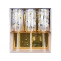 Meri Meri Confetti Popper SHIMMERING GOLD, SILVER & WHITE