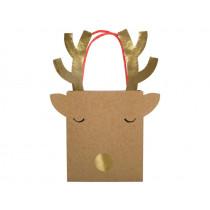 Meri Meri 6 Small Gift Bags REINDEER