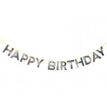 Meri Meri Garland Happy Birthday holographic