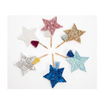 Meri Meri 6 Hair Slides SHOOTING STARS