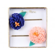 Meri Meri 2 Hair Slides FLOWER POSY