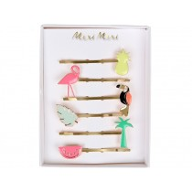 Meri Meri 6 Hair Pins Tropical neon