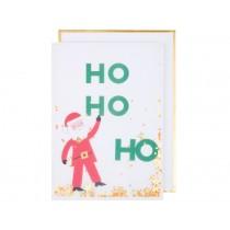 Meri Meri Christmas Card SANTA glitter