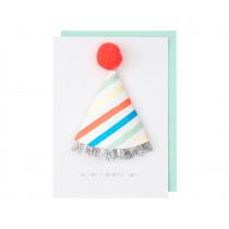 Meri Meri 3D Greeting Card BIRTHDAY HAT