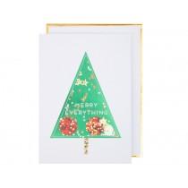Meri Meri Christmas Card TREE glitter