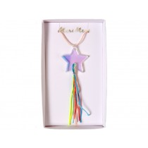 Meri Meri Necklace Shooting Star neon