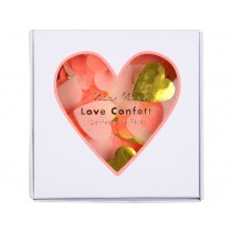 Meri Meri Party Confetti HEARTS neon-coral