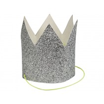 Meri Meri Mini CROWNS silver glittered