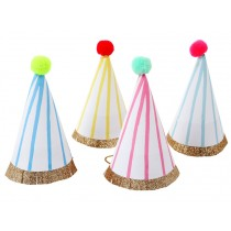 Meri Meri Mini Party Hats with Stripes