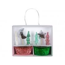 Meri Meri Cupcake Kit XMAS TREE