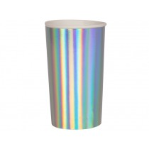 Meri Meri Highball Cups SILVER HOLOGRAPHIC