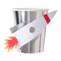 Meri Meri Party Cups SPACE ROCKET