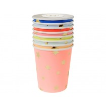 Meri Meri Party Cups STARS pastel
