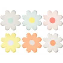 Meri Meri Large Party Plates Daisy pastel