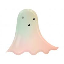 Meri Meri 8 Paper Plates PASTEL HALLOWEEN Ghost
