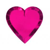 Meri Meri Large Party Plates Hearts pink