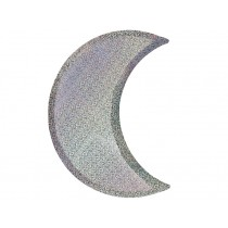 Meri Meri Party Plates silver sparkle MOON