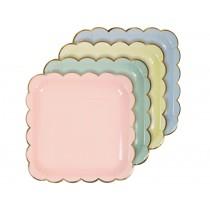 Meri Meri Large Party Plates pastel