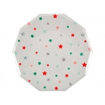 Meri Meri Large Plates FESTIVE STARS