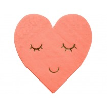 Meri Meri Small Napkins Blushing Hearts