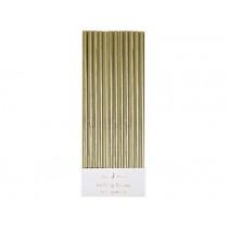 Meri Meri Straws gold foil