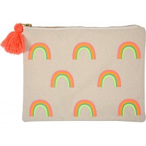 Meri Meri Large Canvas Pouch Rainbow