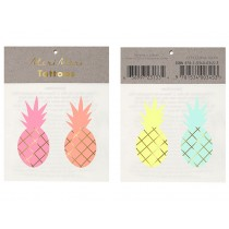 Meri Meri Tattoos Pineapples gold & neon