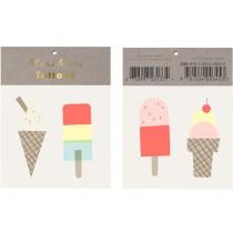 Meri Meri Tattoos Ice Cream neon