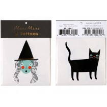 Meri Meri Tattoos SPOOKY WITCH & CAT