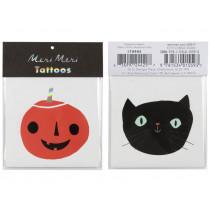 Meri Meri Tattoos CAT & PUMPKIN