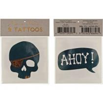 Meri Meri Tattoos Skull & Ahoy