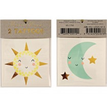 Meri Meri Tattoos Sun & Moon