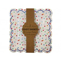 Meri Meri Toot Sweet Spotty Plate large