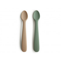 Mushie SILICONE SPOON dried thyme/natural