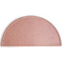 Mushie Silicone PLACE MAT Pink Confetti