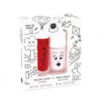 nailmatic kids Lip Gloss + Nail Polish Set KIDS COTTAGE