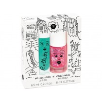 nailmatic kids Lip Gloss + Nail Polish Set NEW YORK