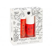 nailmatic kids Lip Gloss + Nail Polish Set TROPICAL