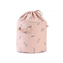Nobodinoz Bamboo Toy Bag Blue Secrets MISTY PINK small